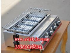 小四头不锈钢烧烤炉,烤面筋机